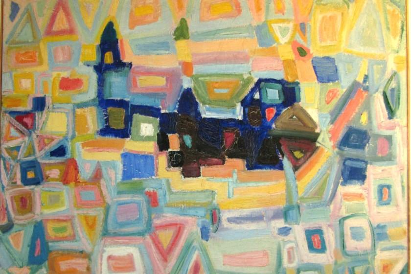 Erik Ortvad, abstrakt kompostion.