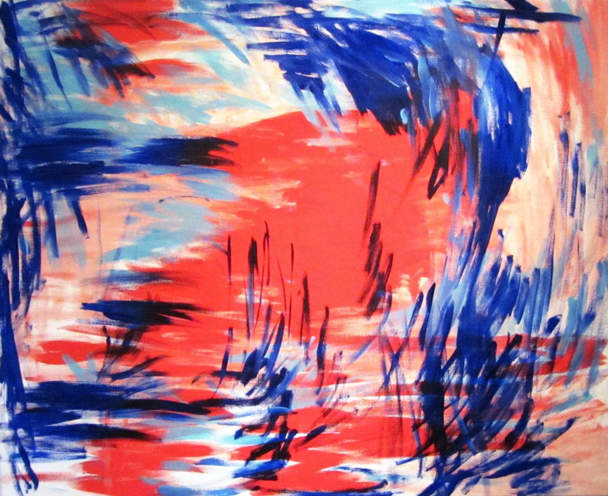Eva Weis Bentzon, abstrakt komposition.