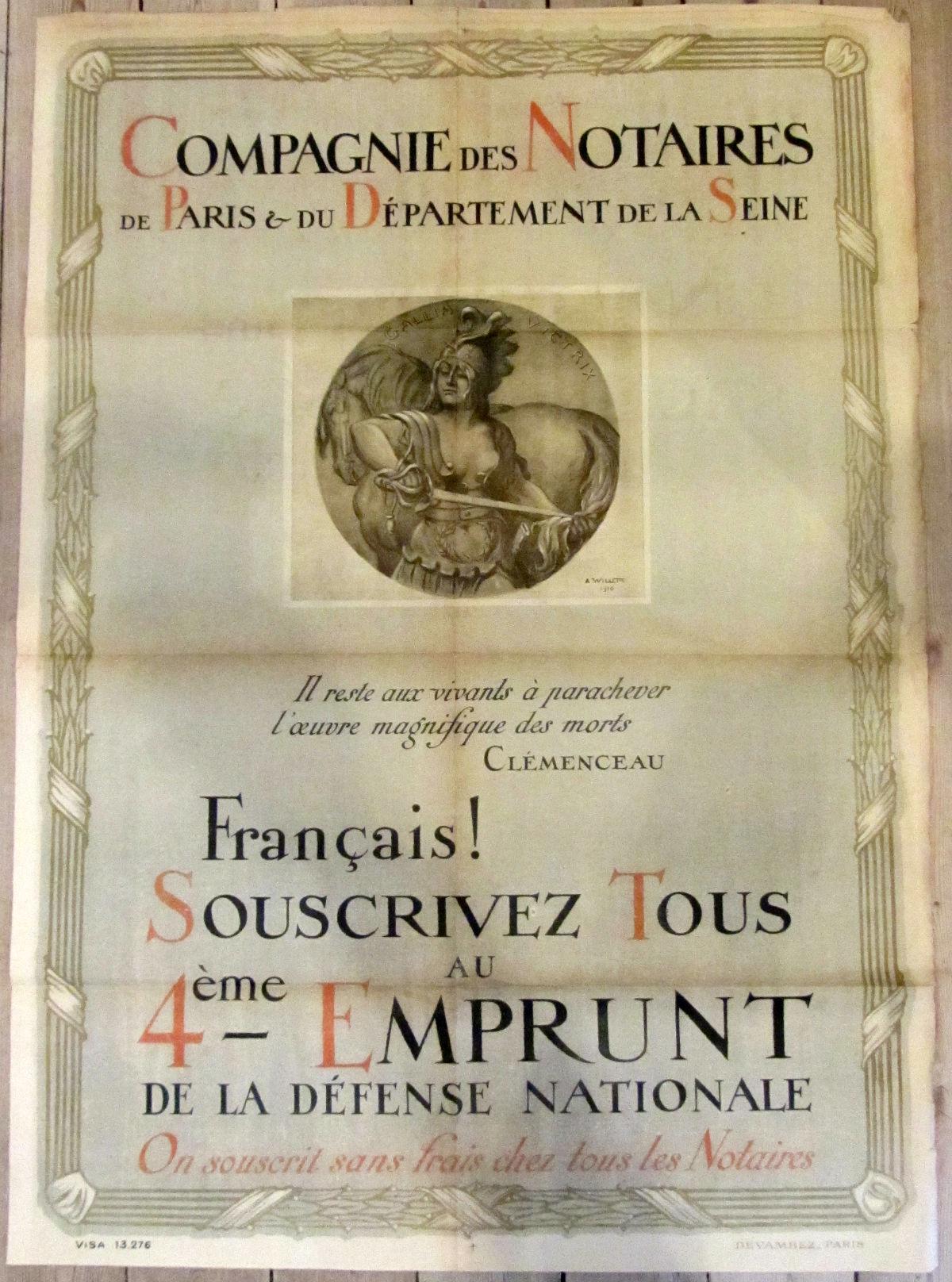 Compagnie des Notaries - vintage poster - risom.dk