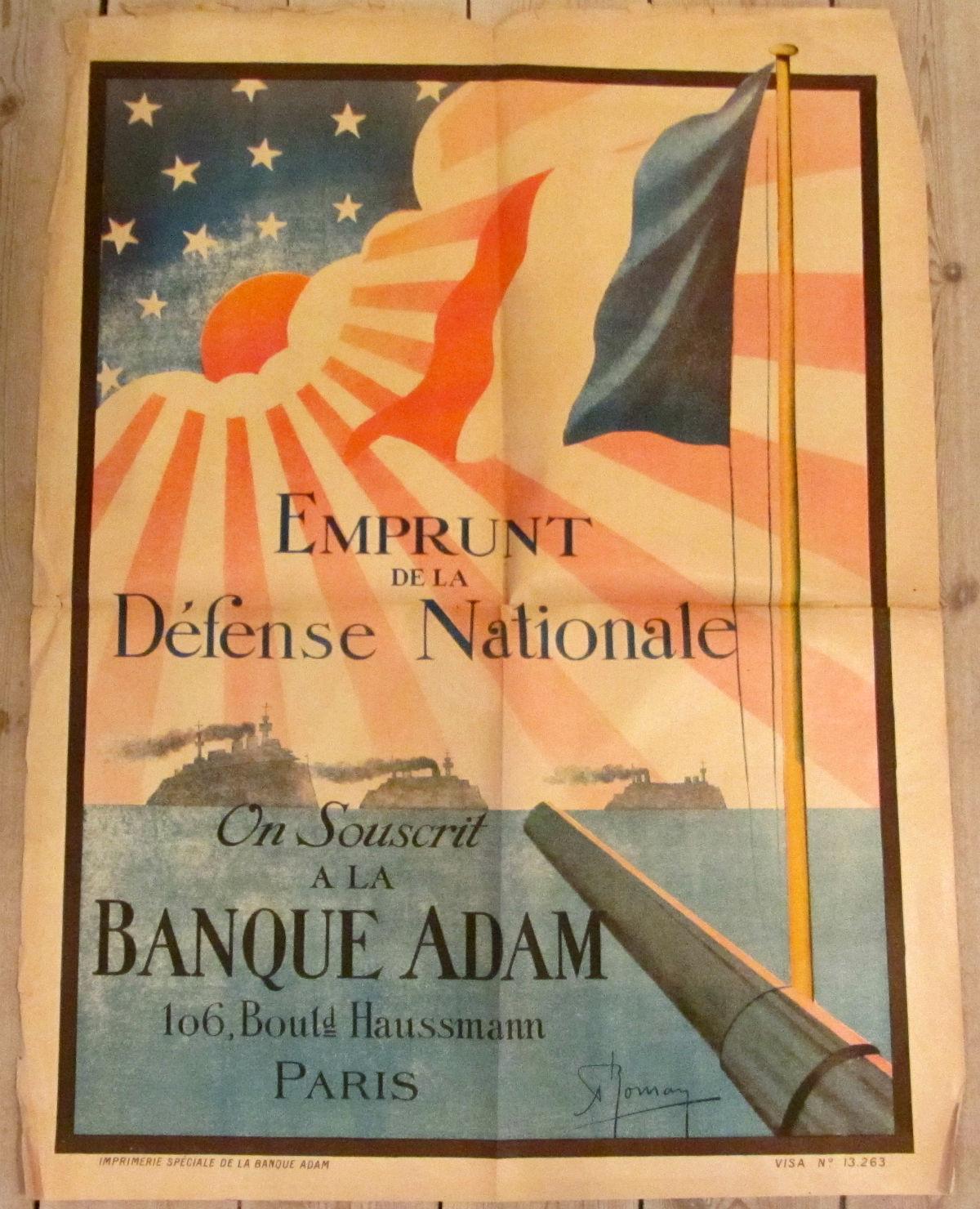 Emprunt De La Defense Nationale - vintage poster - risom.dk