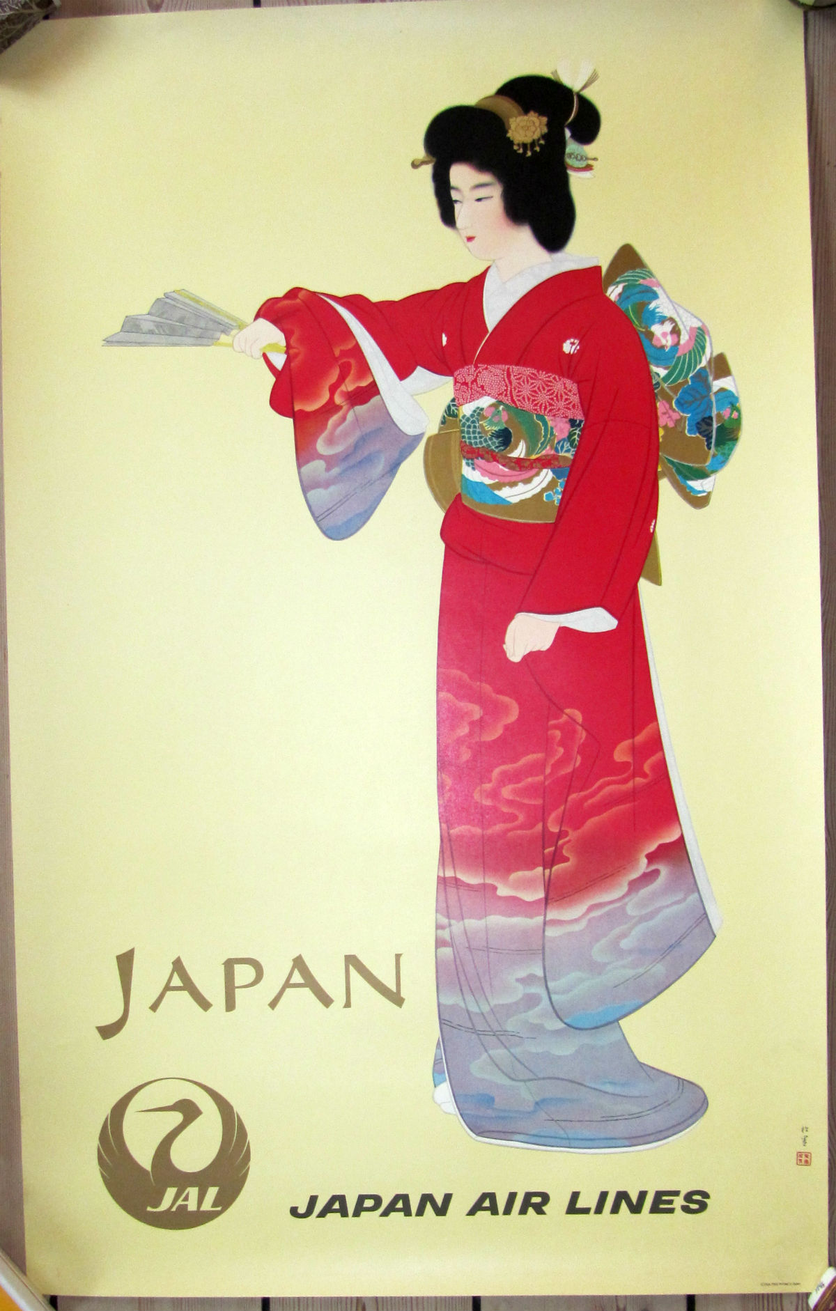 Japan Airlines - Vintage Poster - risom.dk