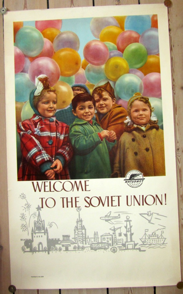 Welcome to the Soviet Union - Vintage Poster - risom.dk
