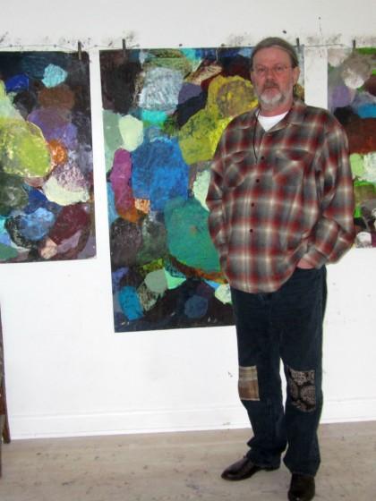 Lars Dan i sit atelier - risom