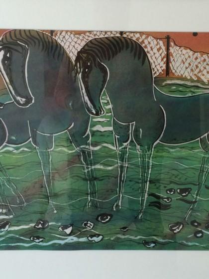 Vibeke Alfeldt - Tegning grøn - risom