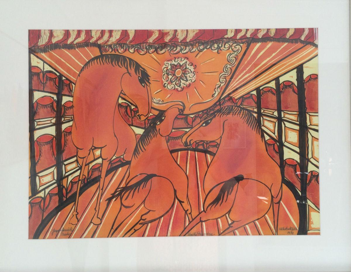 Vibeke Alfeldt - Tegning orange - risom